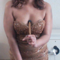 Here I am in my barely there dress